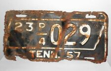 1957 Tennessee Truck License Plate Number 23 P/4 029