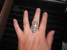 "Paparazzi Stretch Band Ring (new) BRING ON THE BLING - SILVER W/CLEAR ""CRYSTALS"""