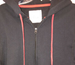 NEW Old navy tech hoodie earbuds medium cotton zip hood