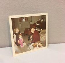 Vintage Photo 60's Girl Child Dad Mattel Dancerina Doll Christmas Morning