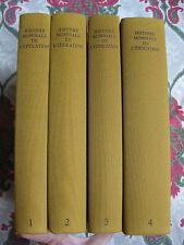 1981 Histoire mondiale de l'éducation Mialeret & Vial 4 vol sciences pédagogie