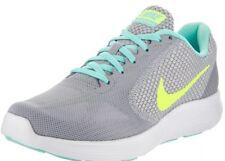 NIKE Women Revolution 3 Running Shoe Wolf Grey Volt Turq 819303-005 SZ 11.5 NEW