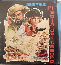 SUPER 8 COLOR FILM SONORO L'ISOLA DEL TESORO ORSON WELLES 3 BOBINE PELLICOLE