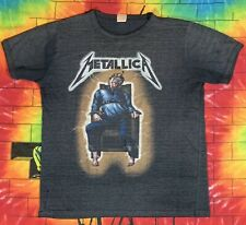 Rare Vintage Metallica 1985 Ride The Lightning Tour Concert Shirt Ringer Style