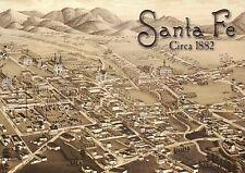 Santa Fe New Mexico circa 1882, Oldest Capital of the United States --- Postcard