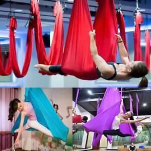 Yoga Swing Hammock Trapeze Sling Aerial Silks Anti gravity Inversion Kit ThALn