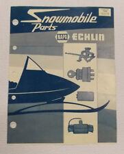 Napa Echlin weatherly 512 703C vintage snowmobile parts catalog