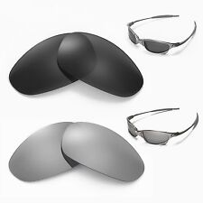 New Walleva Polarized Black + Titanium Lenses For Oakley Juliet
