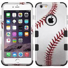 New Tuff HYBRID Hard Case Cover Baseball Black For Apple iPhone 6 PLUS