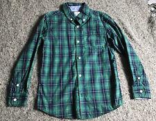 CARTER'S Boys Size 6 Green Plaid Button Down Shirt