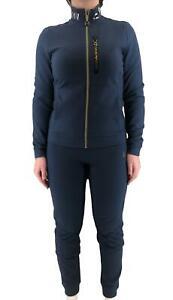 Tracksuit EA7 Emporio Armani 7 EA Woman Blue Jacket Pants Logo