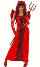 Neues AngebotDamen Rot Gothic Devilicious Verführerin Halloween Horror Kostüm Größe 16-20