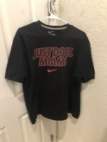 Mens Nike Just Do It Miami Black Short Sleeve T-Shirt Size XL
