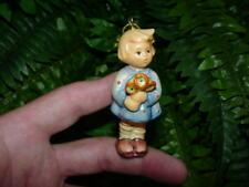 1997 Goebel - girl with nosegay Flower Bouquet - Christmas ornament - no box