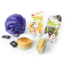 Bath & Body Beauty Set with Face Masks, Bath Puff, Body Brush & Nail Brush