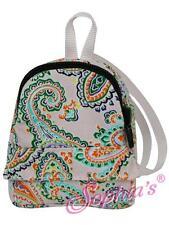 "Pink Paisley Mini Doll Backpack school bag designer 18"" American Girl Doll"