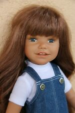"Euro Girl the DIANA COLLECTION 18"" vinyl Doll in Travel Trunk+extra clothes"