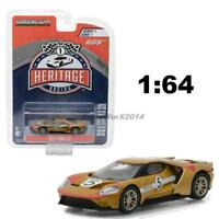 GREENLIGHT 13200 C HERITAGE RACING 2017 FORD GT 40 MKII #5 DIECAST CAR 1:64 GOLD