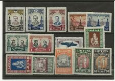 More details for lithuania 1930-33 two sets and a single sg.246a, 313-9, 373-8 mh