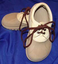 crocs infantil Juventud Sin Cordones Zapatos Náuticos 3 5 Marrón/BEIGE