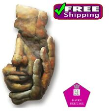 LARGE 3D METAL WALL ART Hanging Metal Wall Sculpture 'Face of Man' D6