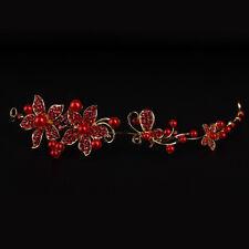 Exquisito Flor Perla Diamante Imitación Pelo Horquilla Banda Novia Nupcial Boda