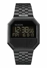 **BRAND NEW** NIXON WATCH THE RE-RUN ALL BLACK A158001 NEW IN BOX!