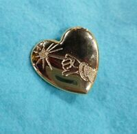Disney Arm and Wand Pin Mickey Mouse Sorcerer The Variety Club Heart Lapel Gold