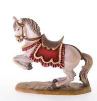 Skulptur Pferd CM 10 Geschnitzt IN Holz Der IN Gröden E Dekoriert Hand