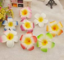 50/100Pcs 4.5cm Floating Frangipani Plumeria Hawaiian Flower Heads Wedding