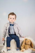 Baby Boys Jacket Grey Lightweight Padded Wedding Suit Christening Baptism