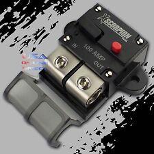 100 A Amp rearme manual en línea Interruptor Platino Terminal Bloque Marino Auto