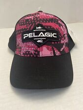 Pelagic High Performance Offshore Gear Snapback Mesh Hat Offshore Ambush Pink