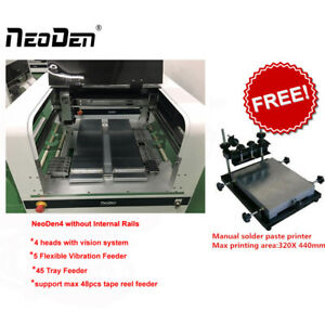 Special offer SMT Pick and Place machine Neoden4 with 4 heads+free fee printer-J