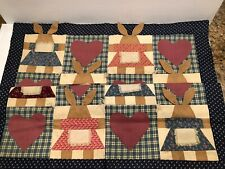 Handmade Rabbit Quilt For Doll or Baby             D
