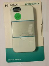 Logitech - protection [+] Case for Apple iPhone 5 and 5s 989-000142 - White/BluE