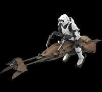 STAR WARS Character Creature 05 1/12 Scout Trooper Speeder Bike BANDAI MODEL KIT
