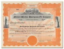 Mitchell-Sheehan Sweetgrass Oil Company Stock Certificate