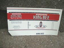 Vintage King Bee Cigarette Tobacco Packaging Label.....Honduras2