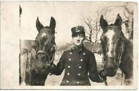 WW1 FRENCH CAVALRY WAR HORSES MILITARY ANTIQUE RPPC PHOTO POSTCARD
