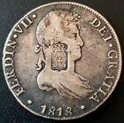 1818 8 reales Mexico Ferdin VII PORTUGAL COUNTERSTAMP 870 Reis VERY NICE!!