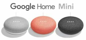 New Google Home Mini Speaker Google Assistant LOT BUNDLE Chalk Coral Charcoal