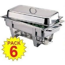 NewPack of 6 Stainless Steel Chafing Dish Sets Next Day Delivery