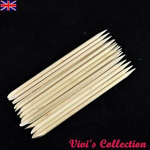 Wooden Sticks Nail Arts Cuticle Manicure Pedicure Tool - Slanted / Pointed Ends