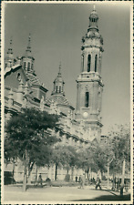 Espagne, Saragosse (Zaragoza), 1953 Vintage silver print. Spain.  Tirage argen