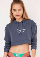 NWT XS Without Walls Urban Outfitters Blue Cropped Warm Up Pullover Sweater