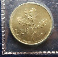 1970 Repubblica Italiana  20 lire quasi P   FDC  SIGILLATA DA DIVISIONALE