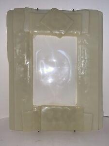 Antique ART DECO Thick Glass Hanging Picture Frame ART NOUVEAU