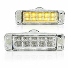 NEW, PAIR of Clear LED Indicators for ARB Bullbars. Signals, lamps 135 x 38mm