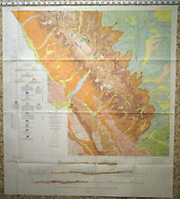 Usgs Glacier National Park & Flathead Region Large Report with All Maps 1959